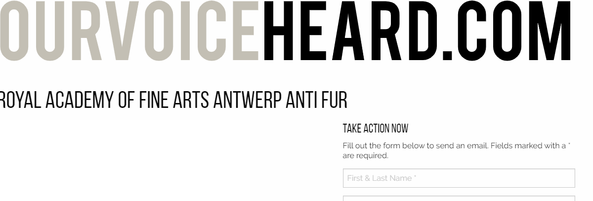 URGENT: WE NEED YOUR HELP (The Royal Academy of Fine Arts Antwerp and Parsons School of Design)