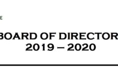 New Board of Directors for 2019-2020
