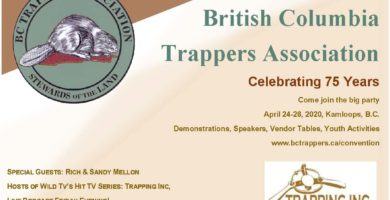 British Columbia Trappers Association Celebrating 75 Years - 2020 AGM in Kamloops