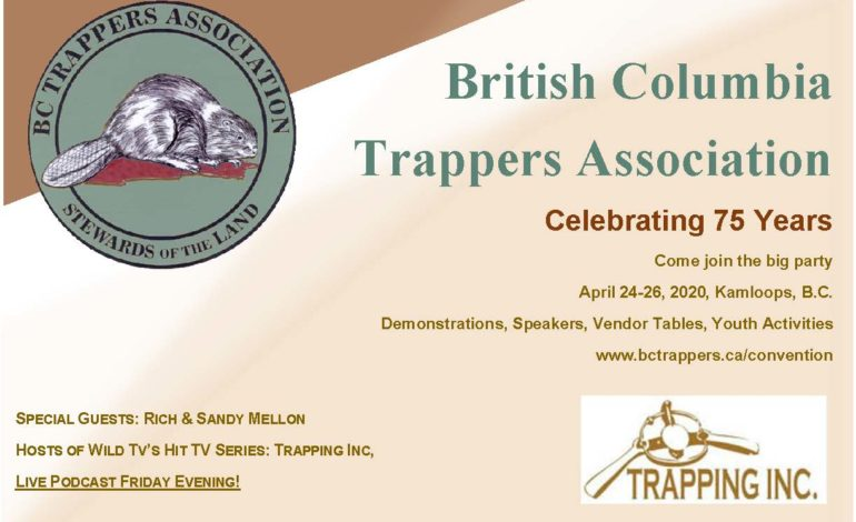 British Columbia Trappers Association Celebrating 75 Years – 2020 AGM in Kamloops