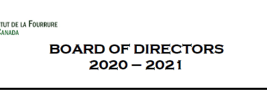 Welcome the new 2020-2021 Board of Directors and Executive Committee