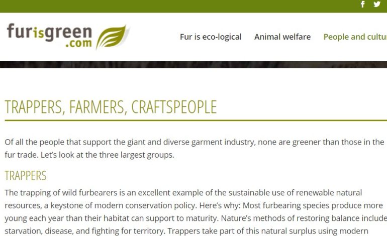 The Fur Council of Canada is giving its Fur Is Green website a complete makeover.