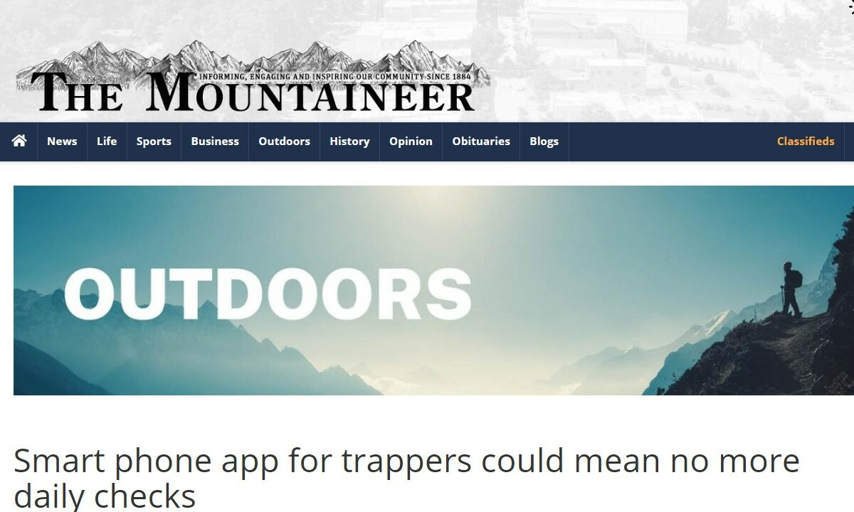 REPOST – Smart phone app for trappers could mean no more daily checks – The Mountaineer