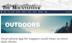 REPOST - Smart phone app for trappers could mean no more daily checks - The Mountaineer